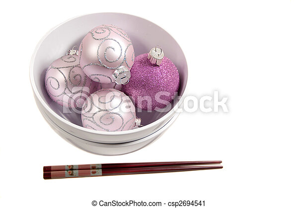 ornaments in a bowl - csp2694541