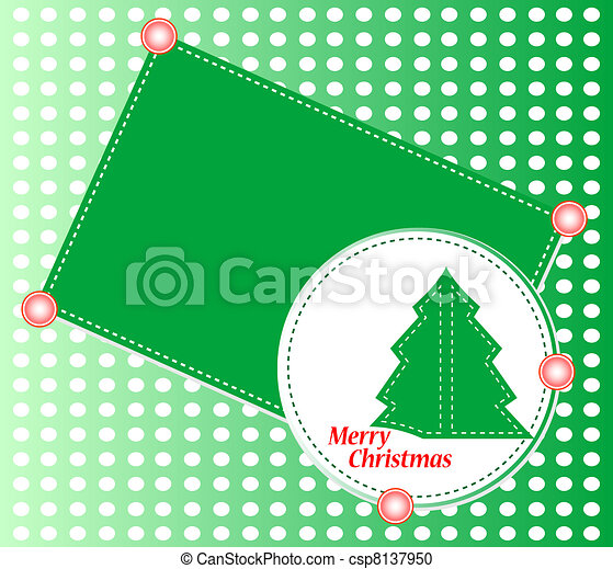 Árbol navideño con adornos. El tema de Navidad - csp8137950