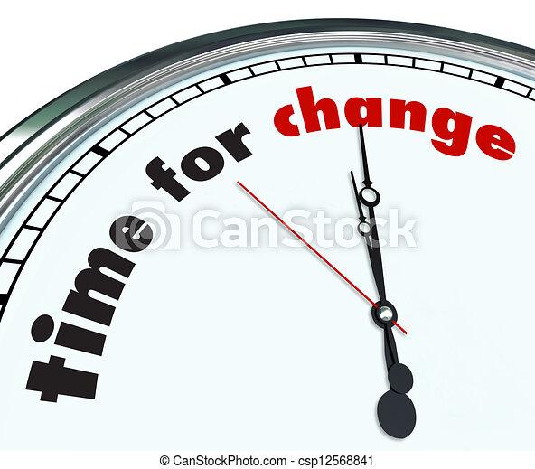ornare, tempo, -, cambiamento, orologio - csp12568841