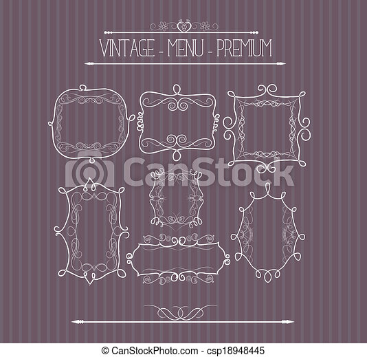 Ornate and doodle callgraphic frame - csp18948445