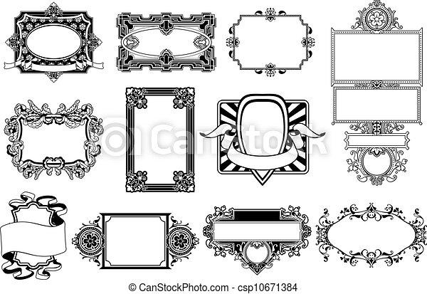 ornate frame and border design elements a set of ornate frame and