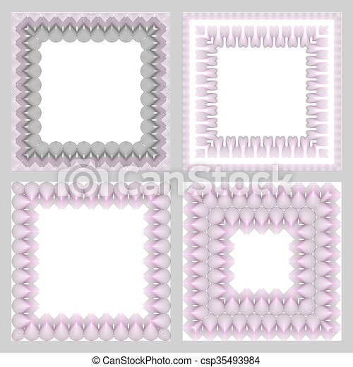 Ornate frame vector - csp35493984
