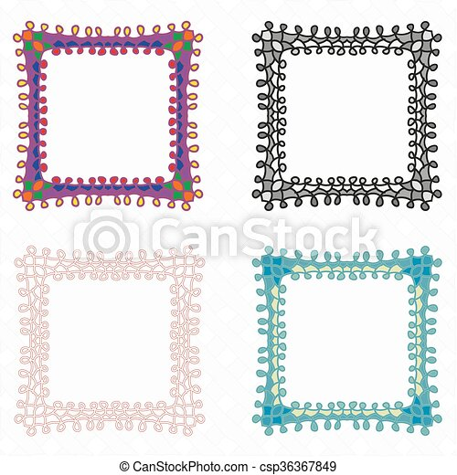 Ornate frame vector set - csp36367849