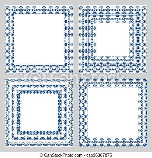 Ornate frame vector set - csp36367875