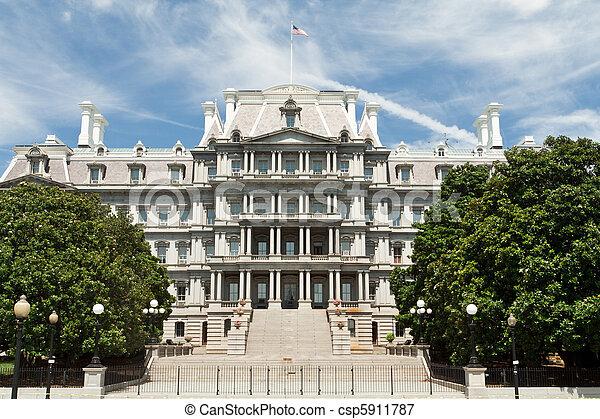 Ornate Old Executive Office Building Washington DC - csp5911787