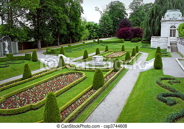 Captivating Ornate Park Garden   Csp3744608
