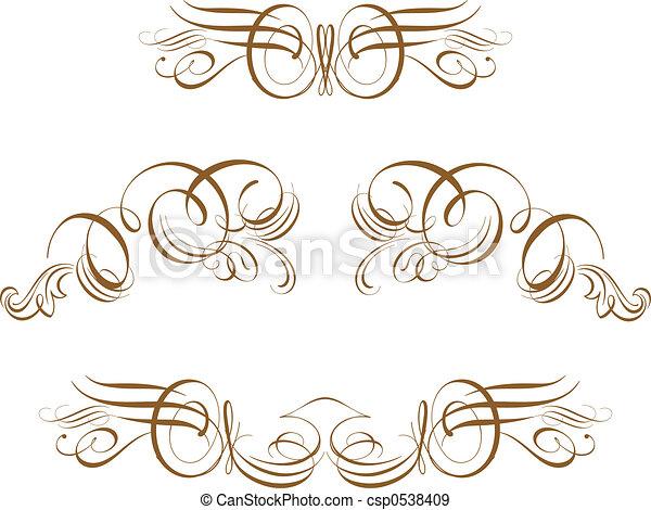 Ornate Scroll - csp0538409