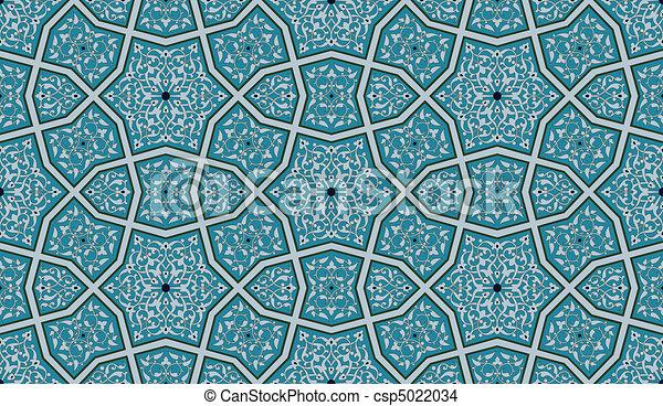ornate, seamless, padrão - csp5022034