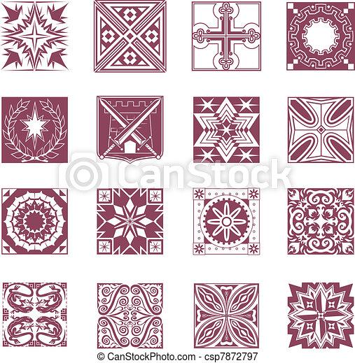 Ornate Tiles - csp7872797