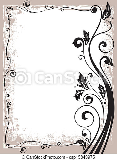 ornate vector floral frame - csp15843975