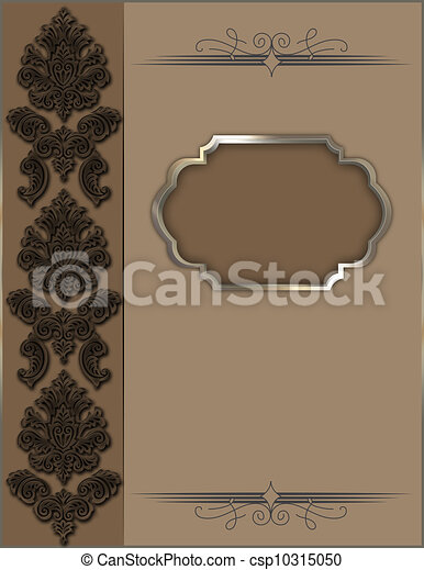 Ornate vintage background. - csp10315050