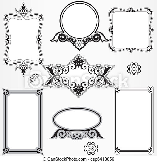 Ornate vintage frame set - csp6413056