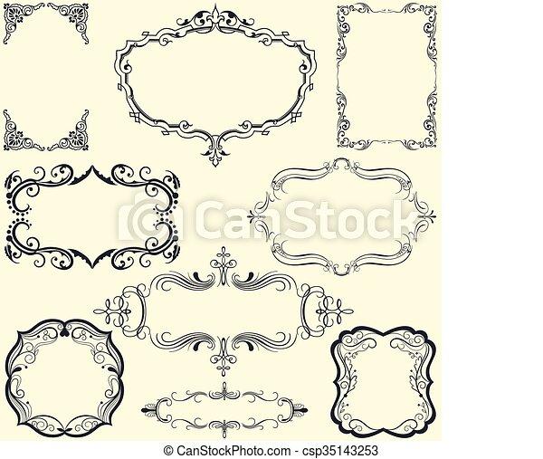 Ornate vintage frame set - csp35143253