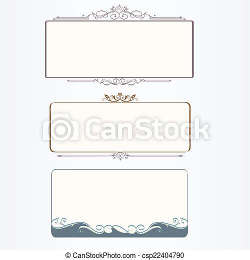 Ornate vintage frame set - csp22404790