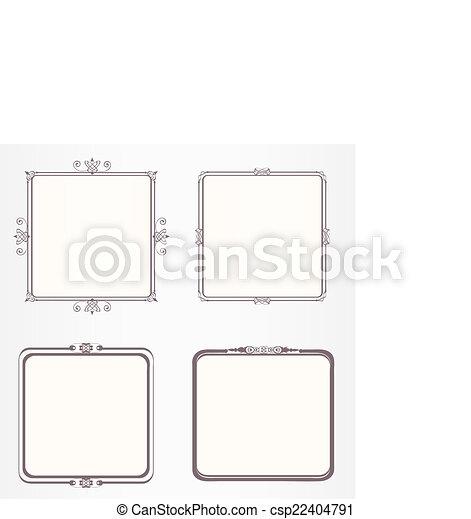 Ornate vintage frame set - csp22404791