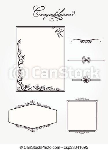 Ornate vintage frame set - csp33041695