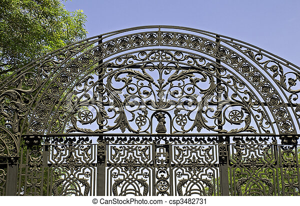 ornate wrought iron gate. ornate wrought iron gate csp3482731 can stock photo