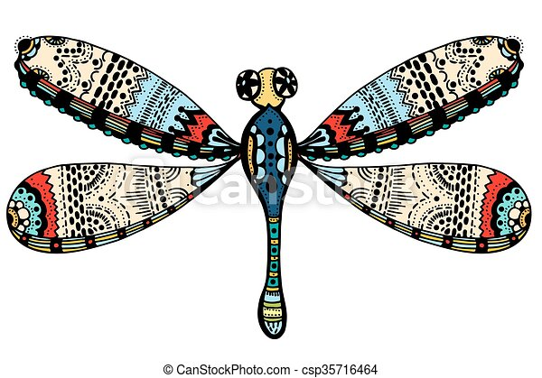 ornate zentangle dragonfly beautiful dragonfly vector clip art rh canstockphoto com dragonfly vector format dragonfly vector file