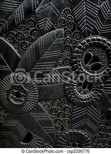 ornately, porta, intagliato - csp2336776