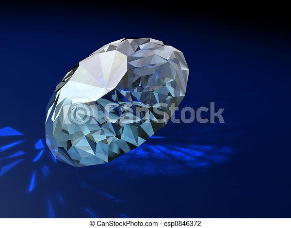 ornement, brilliants, magnifique, cadeau, diamants - csp0846372
