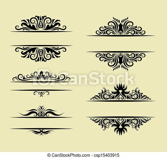 ornement, décorations - csp15403915