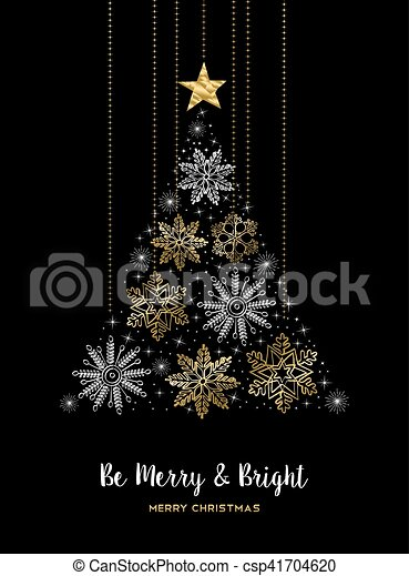 Feliz Navidad, decoración de pino de pino de nieve - csp41704620