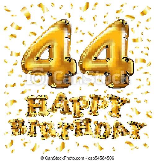 Anniversario Di Matrimonio 44 Anni.Oro Anni Invito Tuo Bandiera 44 Anniversario Celebrare