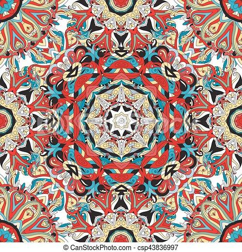 Oro colores otomano mandala azul islmico pattern