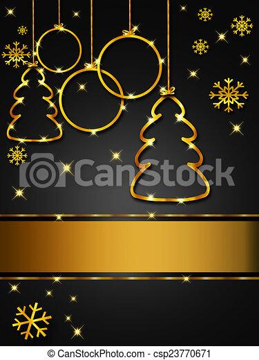 Oro elegante tarjeta saludo negro navidad navidad - Tarjetas de navidad elegantes ...