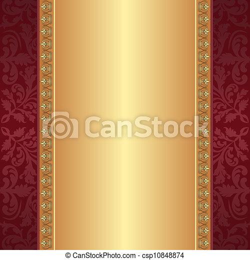 oro, fondo, marrone - csp10848874