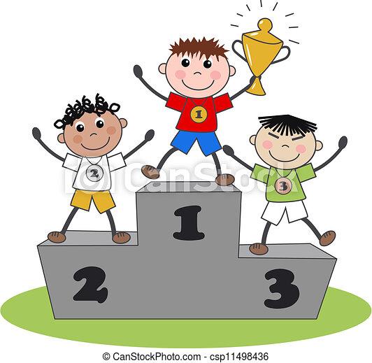 Ganador de bronce plateado - csp11498436