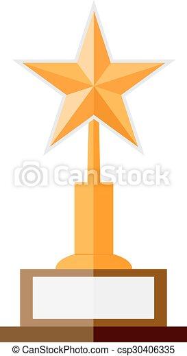 La ilustración del premio a la estrella dorada - csp30406335