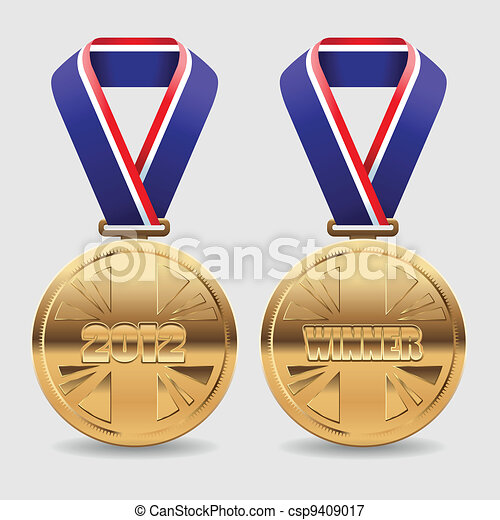 oro, premio, medaglie - csp9409017