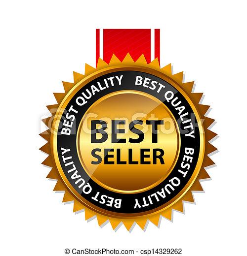 Señal de oro de best seller, plantilla de etiqueta - csp14329262