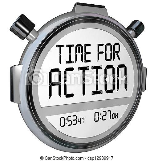 orologio, atto, esigente, azione, timer, tempo, cronometro - csp12939917