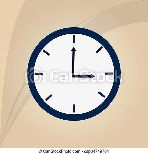 Orologio Disegno Icona 10 Concetto Orologio Graphic Eps
