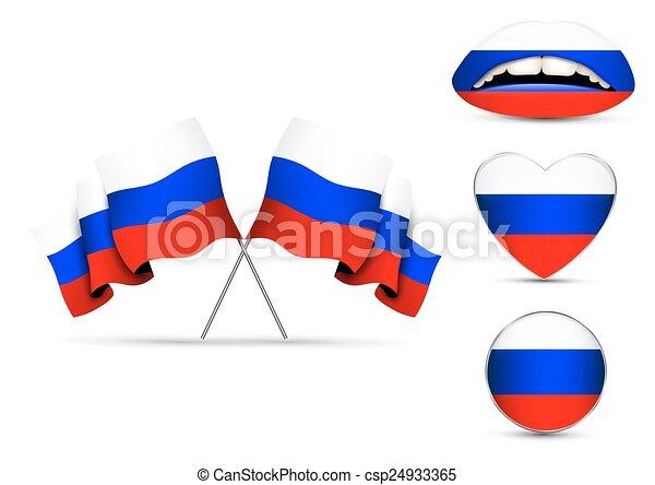 orosz, állhatatos, zászlók - csp24933365