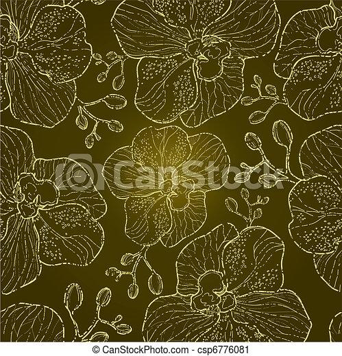 Patrón floral sin semen - csp6776081