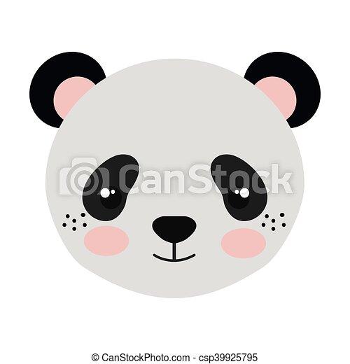 Orso panda cartone animato carino carattere illustrazione