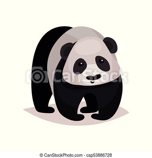 Orso panda vettore illustrazione animale cartone animato