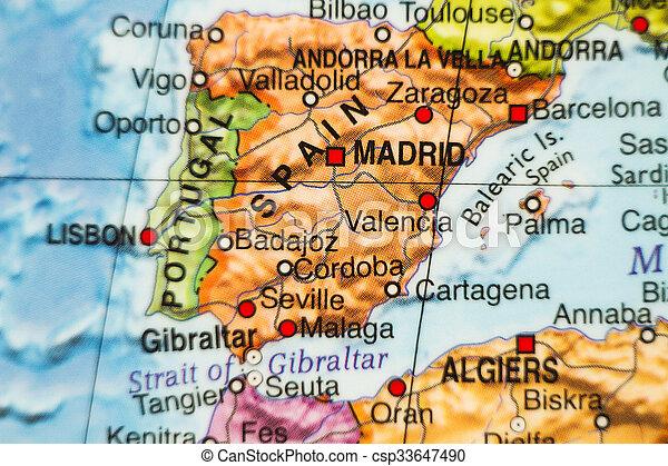 Orszag Spanyolorszag Terkep Terkep Fovaros Fenykep