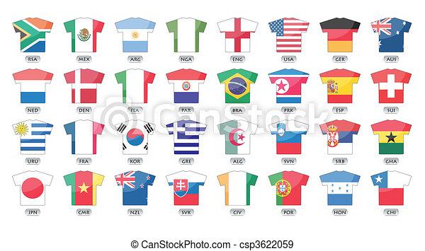 országok, zászlók, ikonok - csp3622059