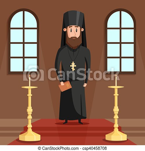 Orthodox christian priest or bishop with beard - csp40458708