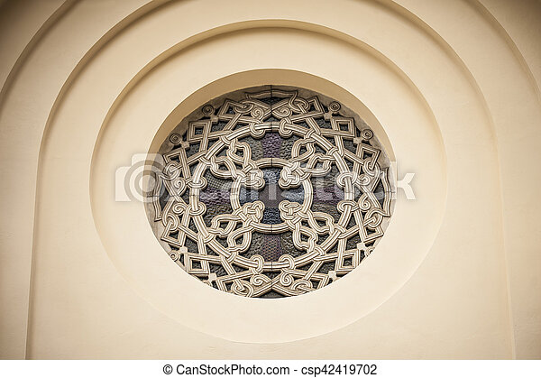 Orthodox church details on a window - csp42419702