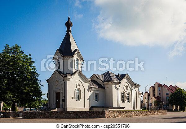 Orthodox church in Merkine - csp20551796