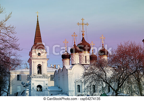 Orthodox Church in Moscow - csp54274135
