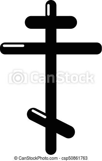 Orthodox cross icon , simple style - csp50861763
