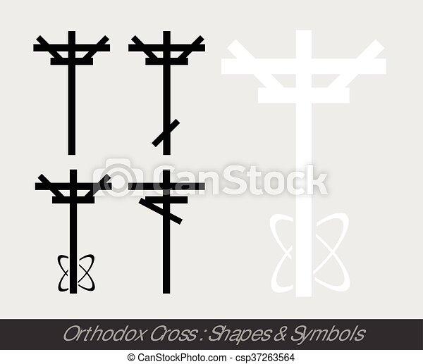 Orthodox Cross Symbols - csp37263564