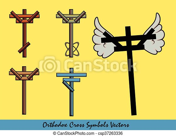 Orthodox Cross Symbols Designs - csp37263336