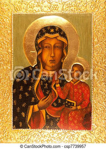 Orthodox Icon Matka Boska Czestochowska